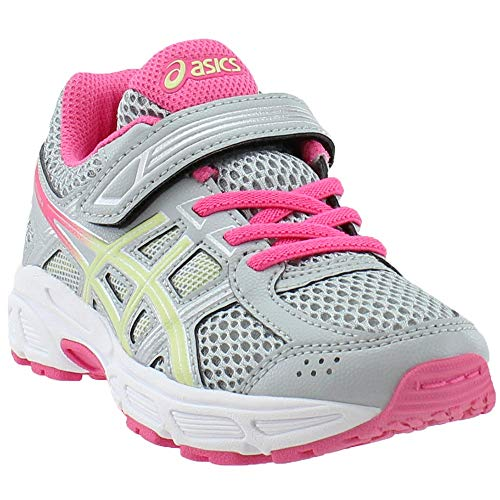 ASICS Kids Baby Girl's Gel-Contend 4 PS (Toddler/Little Kid) Mid Grey/Limelight/Hot Pink 2 M US Little Kid