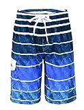 Nonwe Men's Beachwear Quick Dry Striped Board