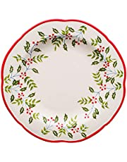 YASE-king Ceramic Bowl Hand-painted Lace Pattern Tableware Noodles Fruit Salad Tray Food Utensils 18x7cm