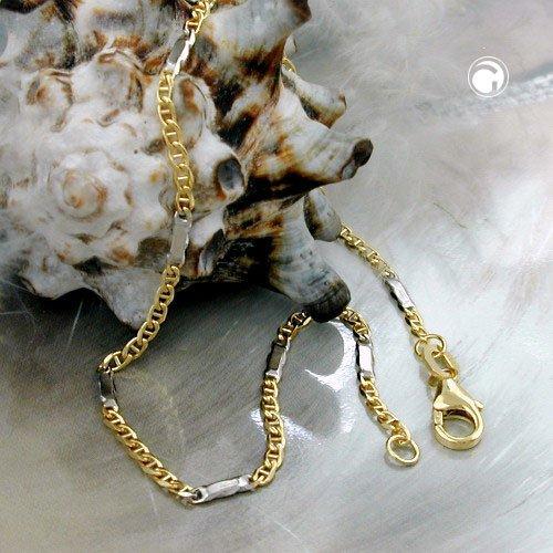 Bijoux Chaîne en Or 375 maille gourmette plat 19cm 1.7 g 1.9 mm