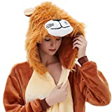 ABENCA Fleece Onesie Pajamas for Women Adult Cartoon Animal Halloween Christmas Cosplay Onepiece Costume