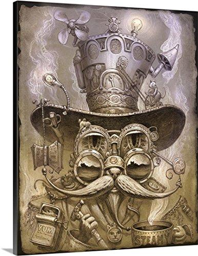 Jeff Haynie Premium Thick-Wrap Canvas Wall Art Print entitled Steampunk Cat II
