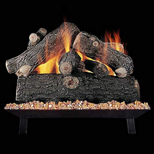 - Rasmussen 24-Inch Prestige Oak Gas Log Set with Vented Valve Vanisher Natural Gas Custom Pan Burner - Remote Ready Safety Pilot