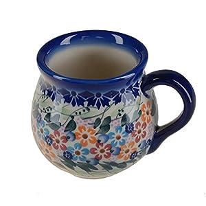 BCV Classic Boleslawiec, Polish Pottery Hand Painted Ceramic Mug, Barrel (250, U-008)
