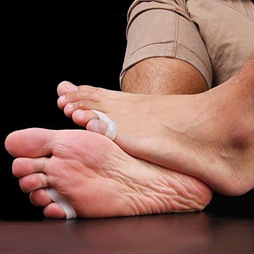 3 paires de pieds Gel Silicone Toe Separator Petit doigt Protecteur Hallux valgus oignon Ajusteur ewinever MRLAK12A