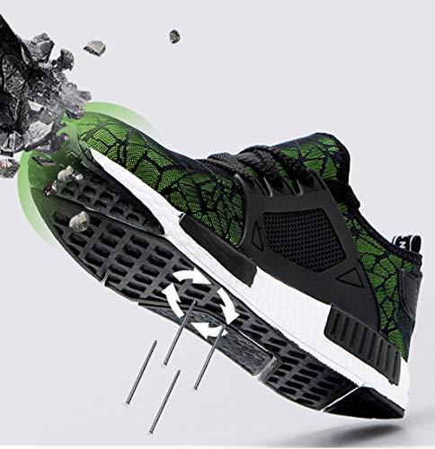 Sneaker Punta Acciaio Scarpe Ed Con Da Di Sroter In Antinfortunistiche Lavoro Traspiranti Eleganti Uomo Sportive Sicurezza Donna verde Leggere 01 xpz7WWAq0w