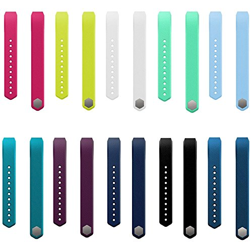 Replacement Straps For Fitbit Alta, Dunfire Colorful Accessory Band/ Wristbands With FREE Secure Silicone Fastener Rings And Metal Clasp For Fitbit Alta Smart Fitness Tracker - - Tracking Usps Free