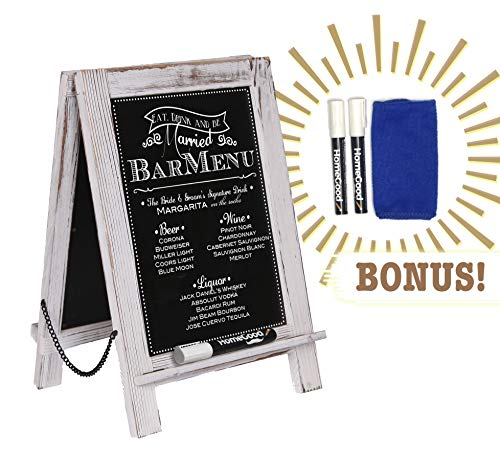 (Standing Double Sided Tabletop Kitchen Chalkboard (14
