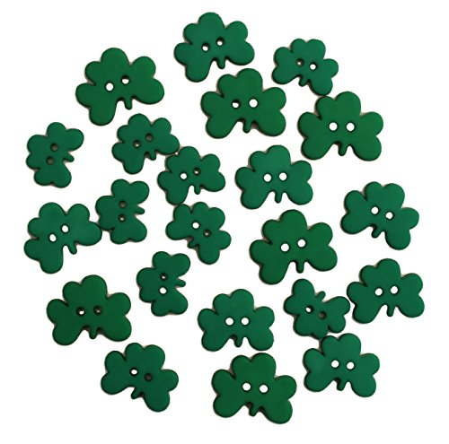 sewing buttons shamrock - 4