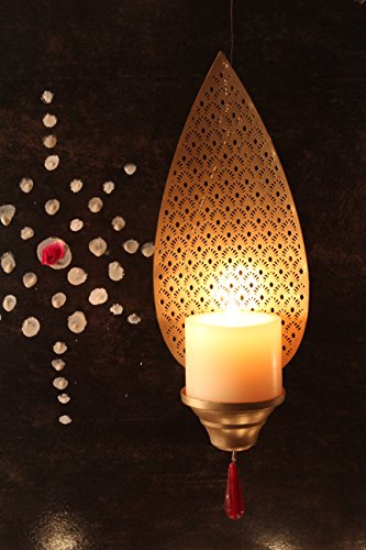 Decorative Wall Mount Candle Holder- Pillar Candle Holders -Elegant and Modern - Traditional Design - Wall Mount - Easy to Hang - Handcrafted - Excellent Gift Item - Home Decor by Courtyard