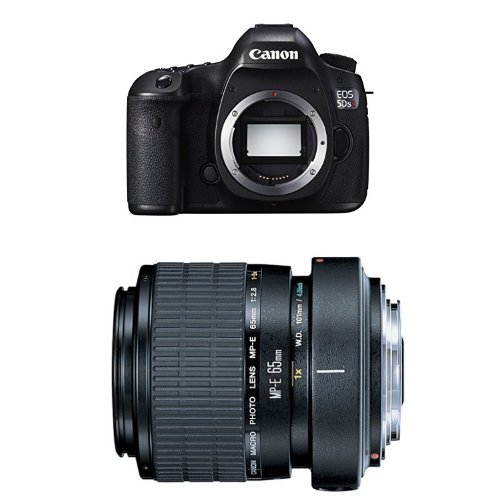 Canon EOS 5DS R Digital SLR Camera w MP-E 65mm F2.8 1-5x Macro Lens Bundle