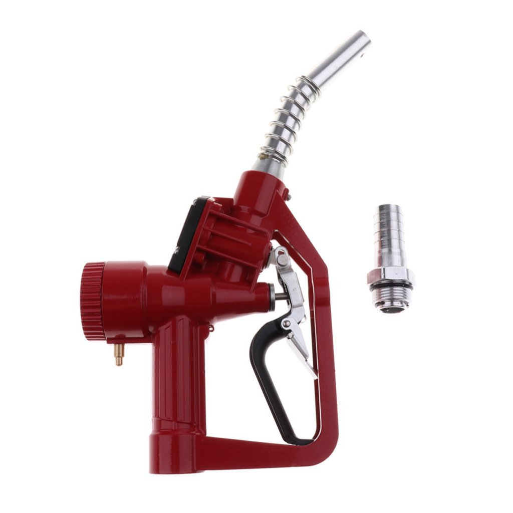 Baoblaze Universal 1'' Fluid Transfer Automatic Nozzle Gun with Flow Meter - Red, 345x190x60mm by Baoblaze (Image #4)