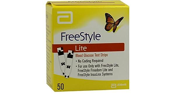 Freestyle lite tiras para prueba sin codificacin 50 unidades freestyle lite tiras para prueba sin codificacin 50 unidades amazon hogar aloadofball Image collections
