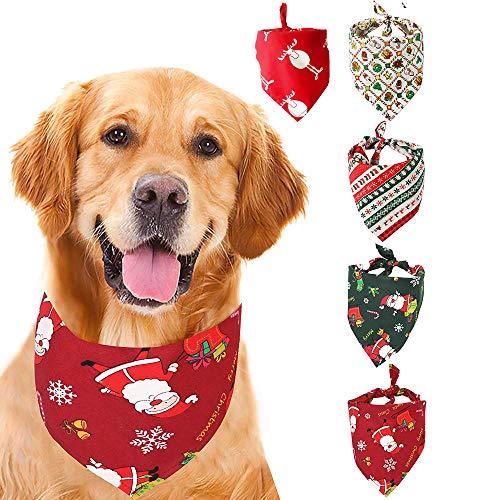 GLE2016 Dog Bandana, 4pcs Washable Dog Bandanas Halloween Dog Triangle Scarf Pumpkin Reversible Triangle Bibs Scarf…