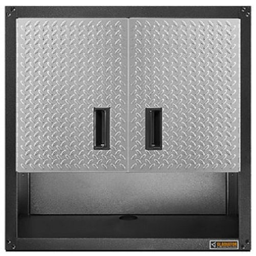 Gladiator GAWG28KDYG Ready-to-Assemble 3/4 Wall GearBox Steel Cabinet, Silver Tread by Gladiator