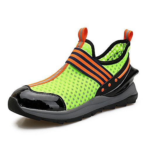 Uomo Scivolare Sulle Sneakers Casual Moda Scarpe Sportive Da Ginnastica Leggera Traspiranti E Sportive 8358 Verde
