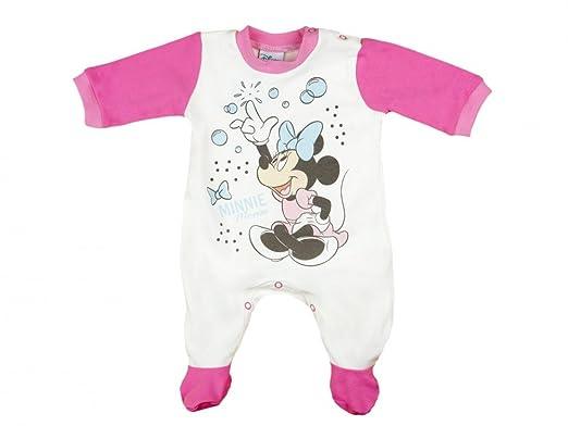 5a08c2f8ef Disney Mädchen BABY-STRAMPLER mit Füßchen, Jersey, von Minnie Mouse in  GRÖSSE 56