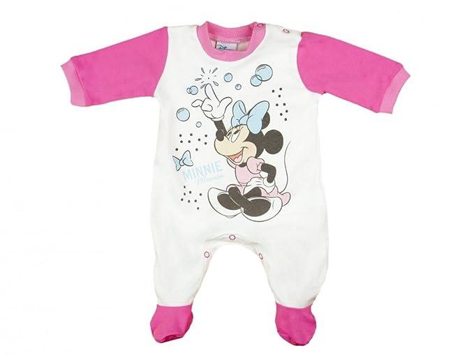 Strampler Spieler Minnie Mouse Maus Spielanzug Overall Baby Anzug Disney Rosa