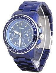 Fossil Fossil Ladies Dark Blue Stella Aluminum Chronograph Watch (Dark Blue)