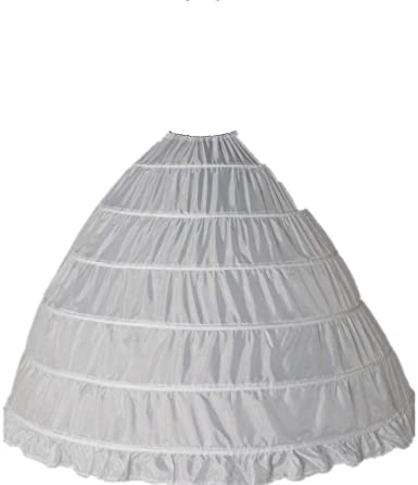 Clocolor A-Line Mujer Enagua Miriñaque Blanca de la boda ...