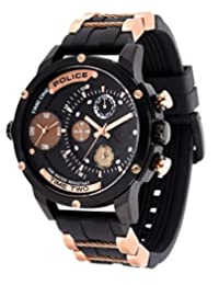 Police Men's PL14536JSB02PA Casual Adder Multifunction Watch with 3 Hands Date
