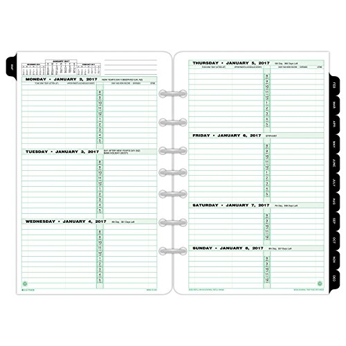 AmazonCom  DayTimer Weekly Planner Refill  Two Page Per Week