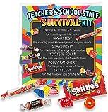 Teacher Appreciation & School Staff Survival Kits (12 per Set) Fun Candy Treat Gift Kit Idea for Teacher Appreciation Week