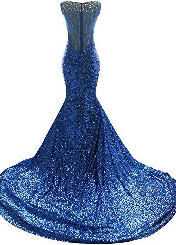 Drehouse Paillettes Des Femmes Sirène Robes De Bal De Robes Longues Formelles De Soirée Taille Plus Rouge B