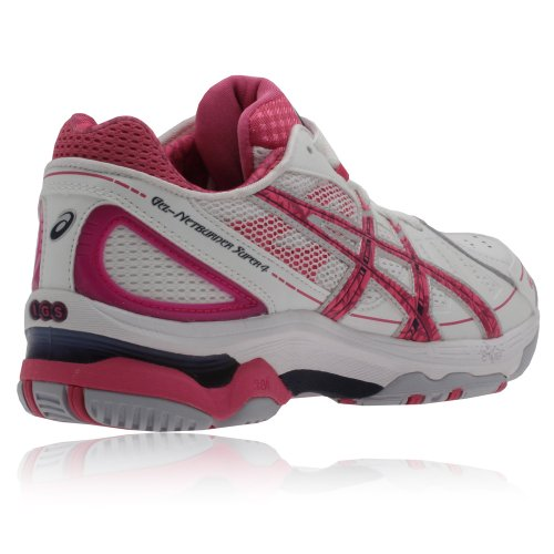 Asics Gel-Netburner Super 4 Women's Netball Shoes White/Ultra Pink/Navy mo1m9g