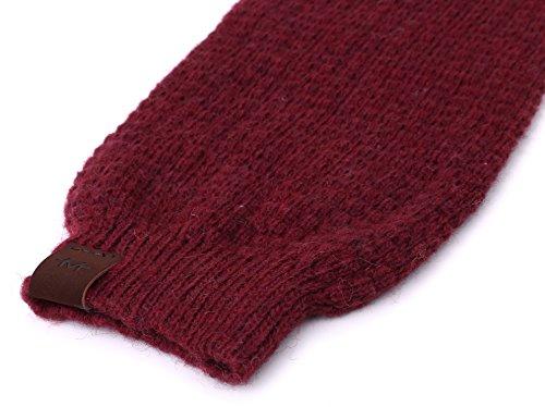 Marino Long Leg Warmers For Women - Winter Knee High Knit Leg Warmer Socks, Enclosed in an Elegant Gift Box - Burgundy - One Size