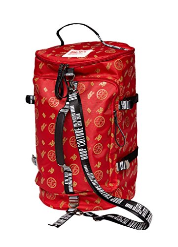 Hoop Culture - Men and Women Hoop Class MMX Duffle Travel Backpack Bag - Red by HoopCulture