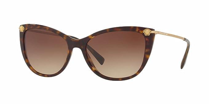 Amazon.com: anteojos de sol Versace VE 4345 Ba 108/13 Havana ...