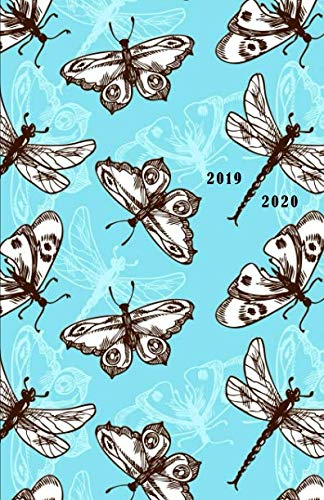 2019 - 2020: 18 Month Academic Planner from JULY 2019 through DECEMBER 2020 with yearly overviews, monthly calendars and weekly 2-page horizontal ... week) - Illustration of Butterflies & Moths