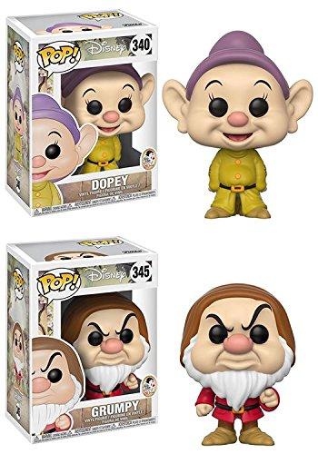 e and the Seven Dwarfs: Dopey + Grumpy - Disney Vinyl Figure Set NEW (Seven Dwarfs Dopey)