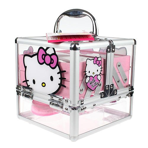 72c089c2e Amazon.com: Hello Kitty Cosmetic Train Case: Beauty