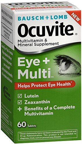 Bausch + Lomb Ocuvite Eye and Multi Multivitamin and Mineral Supplement with Lutein and Zeaxanthin, 60 count by Bausch & Lomb