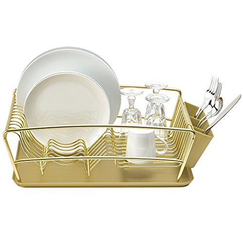 Better Houseware 3 Piece Dish Rack Set - Gold