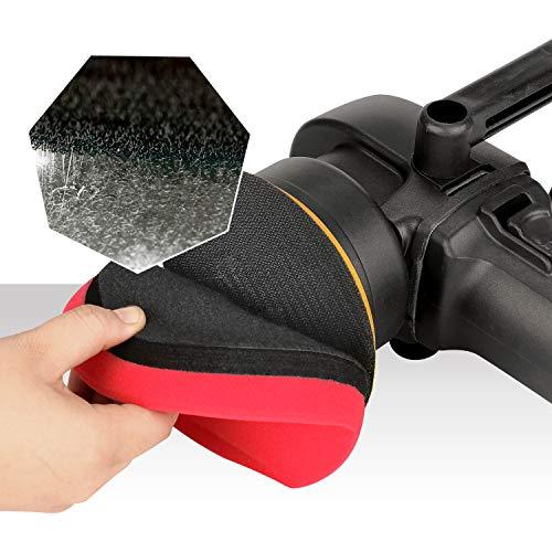 SPTA 5 Inch 8mm/780W 6 Variable Speed Orbital Polisher DA Car Polisher Orbit Dual Action Polisher Detail Boat Polishing Auto Detailing Tools Come with 3 DA Polishing Pads+2 Microfiber Towels +1 Glove by SPTA (Image #5)