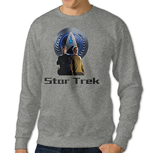 [Mooy Men's Design Star Treka Hoodie Size L Ash] (Doctor Barbie Costume)