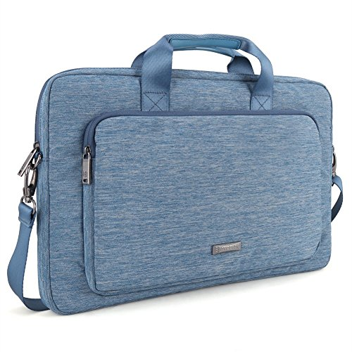 Evecase Classic Padded Briefcase Messenger Bag with Shoulder Strap and Handle for MSI GP70/ GE70 Series 17.3-Inch Laptop - Blue - Msi Computer Ge70