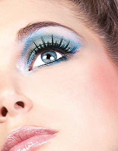 Baci Glamour Style No.597 Deluxe Eyelashes with Adhesive Included, Black by Baci