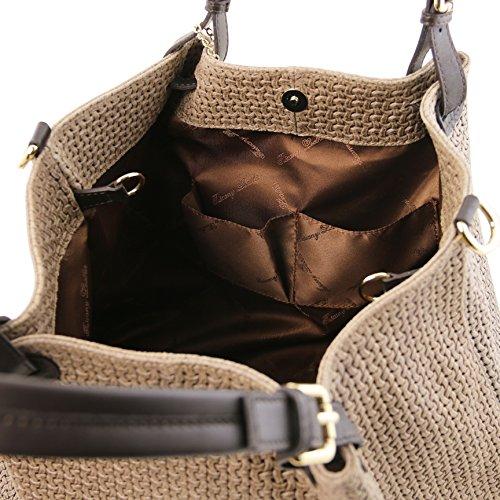 81415684 - TUSCANY LEATHER: TL KEYLUCK - Sac shopping TL SMART en cuir imprimé tressé - Grand modèle, Lilas