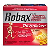 """Robax Heatwraps (4 Count), Thermacare Neck & Shoulder, Non - Medicated Pain Relief Neck & Shoulder Heatwrap"""