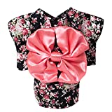 WuKong Multi-size Spring and Summer Pet Dog Clothes Teddy Hiromi Floral Kimono Dress (M, Black)