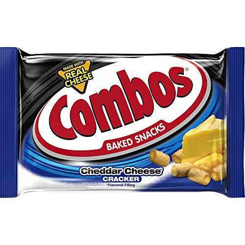 - Combos Cheddar Cheese Cracker Baked Snacks 1.7-Ounce Bag 18-Count Box