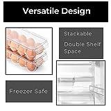 Smart Design Stackable Refrigerator Carton Bin
