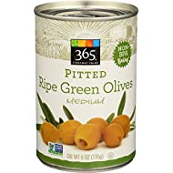 365 Everyday Value, Pitted Green Ripe Olives Medium, 6 oz