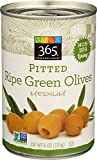 365 Everyday Value, Pitted Green Ripe Olives Medium, 6 Ounce