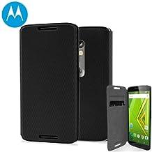 Motorola Moto X Play Flip Shell Cover - Black (Black)