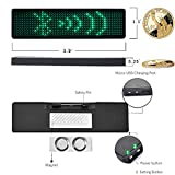 JAHUITE Upgraded LED Name Tag Rechargable Cellphone Programmable with Magnet/Pin Mount Business Sign Advertising Board Display Wireless Bluetooth Name Badge